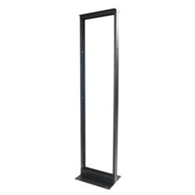 """Image for 6"""" (152 mm) Channel x 7' (2134 mm) H - 19"""" (482.6 mm) AI Equipment Rack (45U) M6 Tapped Rails, Black - Part Number : 760092023"""