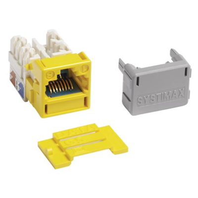 Image for GigaSPEED X10D� MGS600 Series Information Outlet, Yellow - Part Number : 760092387