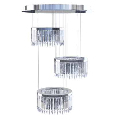 Image for Lady Crinoline chandelier Classic 3 modules