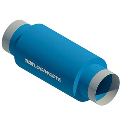 Image for Exhaust air pipe silencer, DN 500