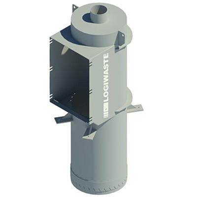 Image for Manual waste and laundry inlet topchute connection, DN 500