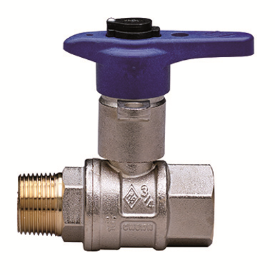 2061 BUBBLE-SFER, Water full bore ball valve, M/F threads, technopolymer handle, extractable and replaceable security lock and ball with automatic rinse system图像