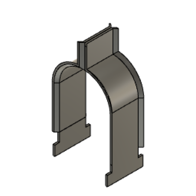 Image for ATC_Conduit Clamp for C-Channel_HDG