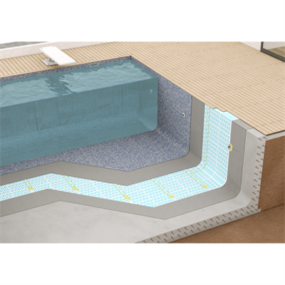 Image pour SYSTEM FOR WATERPROOFING POOLS AND BATHS