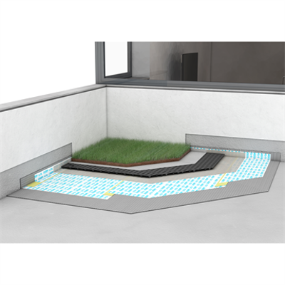 Image pour SYSTEM FOR WATERPROOFING AND SOUNDPROOFING GREEN ROOF AND LARGE SURFACES