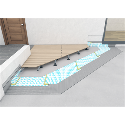 Image for SYSTEM FOR WATERPROOFING TERRACES AND LARGE SURFACES