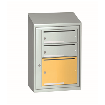 afbeelding voor Mailbox typ 3 single section 3 boxes, height 774 mm