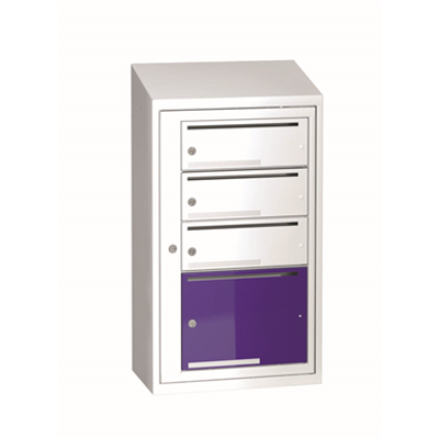 Image for Mailbox typ 3 single section 4 boxes, height  917 mm