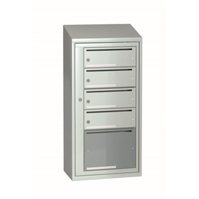 Image for Mailbox typ 3 single section 5 boxes, height 1061 mm