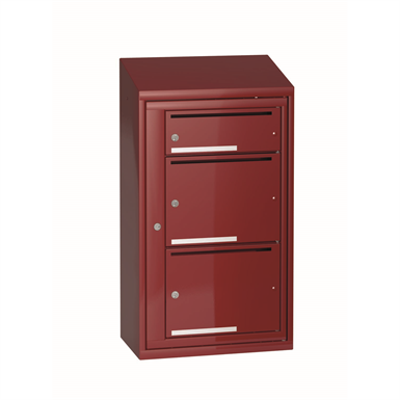 Image for Mailbox typ 3 single section 3 boxes, height 917 mm