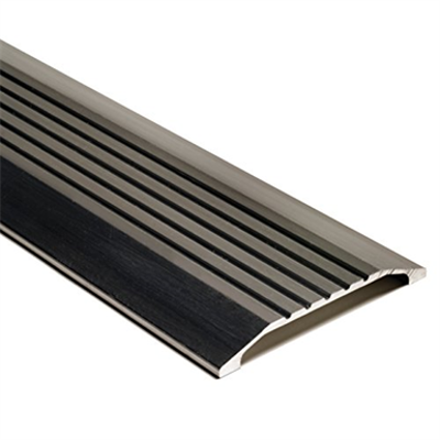 """Image for National Guard 424-36"""" NGP Fluted Commercial Saddle Threshold, Mill Finish, 36"""" L x 4"""" W x 1/2"""" H"""