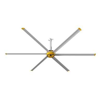 Image for Big Ass Fans 12 Ft 6 Silver Blades Ceiling Fan
