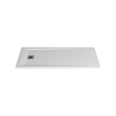 Image for ROCKS 1600x700x30 self-standing rectangular shower tray (w/ anti slip)