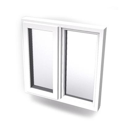 imagen para Intakt inward opening window 2+1 glass 2-light with mullion Sidehung or Kippdreh with fixed leaf