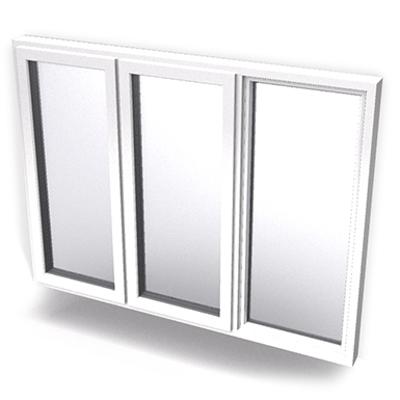 imagen para Intakt inward opening window 2+1 glass 3-light with mullions Two adjacent leaves open