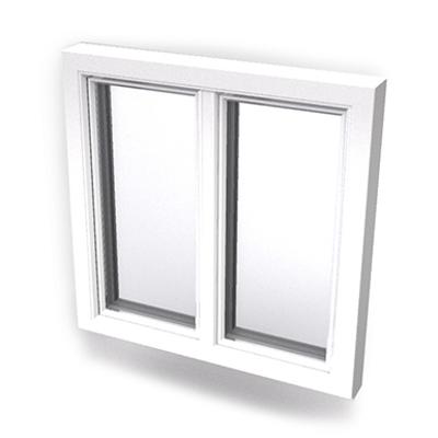 imagen para Intakt inward opening window 2+1 glass 2-light whitout mullion