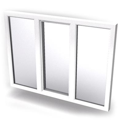 imagen para Intakt inward opening window 2+1 glass 3-light with mullions Middle open