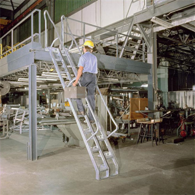 Image for Steel Alternating Tread Stair, 68 Degree