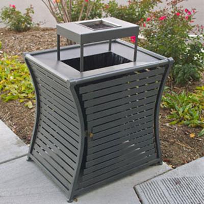 Image for WestPort Horizontal Strap Trash Receptacles