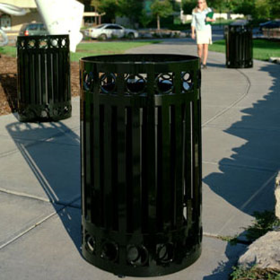 Image for Halo Decorative Ring Trash Receptacles