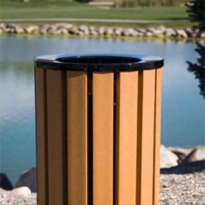 Image for Avondale Wood/Recycled Plastic Slat Receptacles