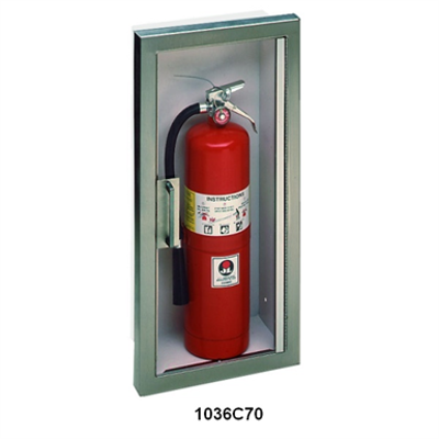 afbeelding voor JL Industries | Fire Extinguisher Cabinet Frameless Acrylic Door with Stainless Steel Trim | Panorama Series