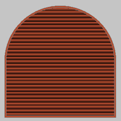 Image for ELR: Stationary Louvers, Round and Semi-Round Shapes, Extruded Aluminum, Shape - E