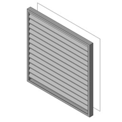 Image for Ruskin Aluminum Thin Line Drainable Stationary Louver ELF211D