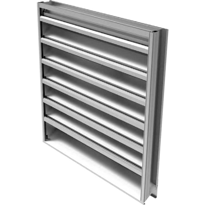 Image for Ruskin ELF375DXD Extruded Aluminum Hurricane Louver