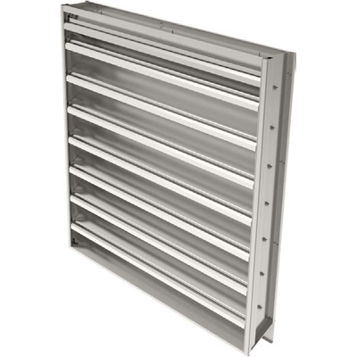 Image for Ruskin Drainable Adjustable Warehouse Louver Extruded Aluminum ELM6DW
