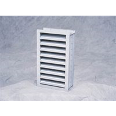 Image for Ruskin Aluminum Wind-Driven Stationary Louver EME520DD