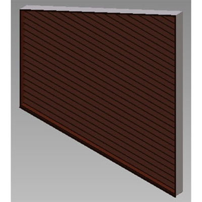 Image for ELT: Stationary Louvers, Triangular And Trapezoidal Shapes, Extruded Aluminum, Shape - C