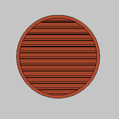 Image for ELR: Stationary Louvers, Round and Semi-Round Shapes, Extruded Aluminum, Shape - A