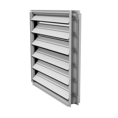 Image for TED50 Extruded Aluminum Insulated Airfoil Blade Damper AMCA Class IA Leakage Rated