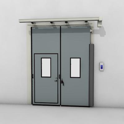 afbeelding voor ASSA ABLOY FD2250P Folding Door (0+2) Electrical DLW 1400-2500mm, DLH 2000-6000mm