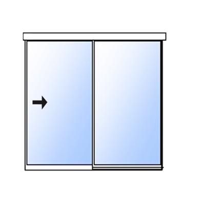 afbeelding voor Extra slank schuifdeursysteem met vast zijpaneel