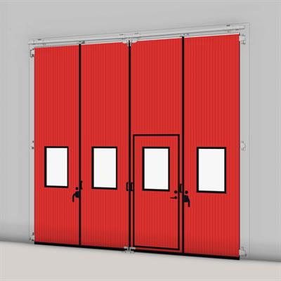 afbeelding voor ASSA ABLOY FD2250P Folding Door (2+2) Manual DLW 2530-5000mm, DLH 1850-6000mm