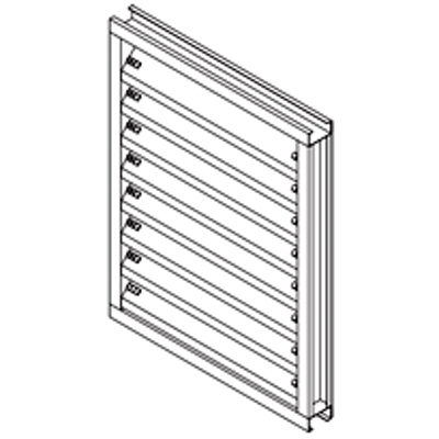"""Image for Galvannealed Steel Louver, 2"""" Deep, 45 degree J-Blade"""