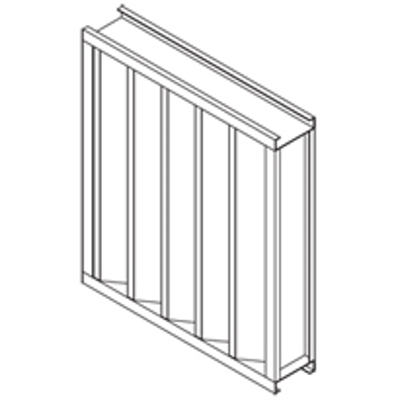 """Image for Extruded Aluminum Louver, 4"""" Deep, 45 degree Vertical Blade"""