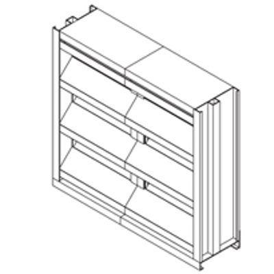 """Image for Extruded Aluminum Louver, 6"""" Deep, 45 degree Recessed Drainable Blade"""