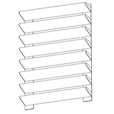 """Image for Extruded Aluminum Sight Screen, 4"""" Deep, Horizontal Airfoil Tube Blade"""
