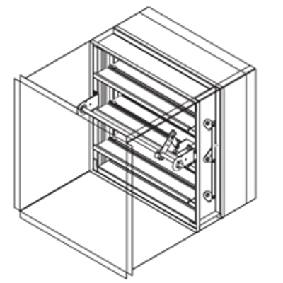 Image for Combination Fire Smoke Damper, 1-1/2 Hour, UL Class 3, Actuator In The Airstream, Out-Of-Partition