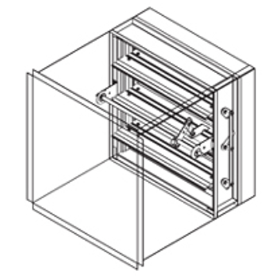 Image for Combination Fire Smoke Damper, 1-1/2 Hour, UL Class 1, Airfoil Blade, Out-Of-Partition