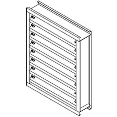 """Image for Galvannealed Steel Louver, 4"""" Deep, 45 degree Chevron Blade"""