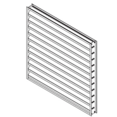 """Image for Extruded Aluminum Louver, 2"""" Deep, 45 degree Inverted """"Y"""" Blade"""
