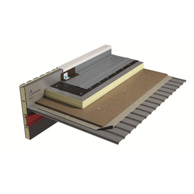 Image for SOPREMA - warm roof system with vapour barrier on metal deck