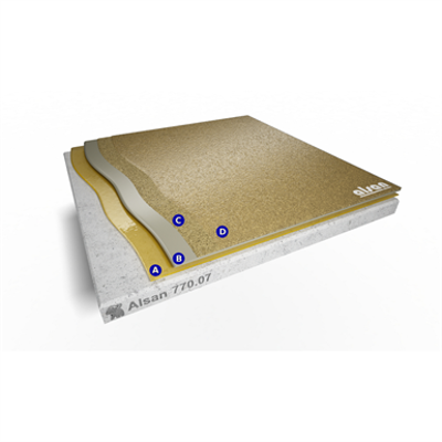 Image for Liquid roofing system for balconies with wearing layer and sealer