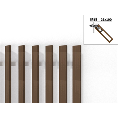 Image for Inclined Vertical 25mm x 100mm - WOODSPEC Feather Louver