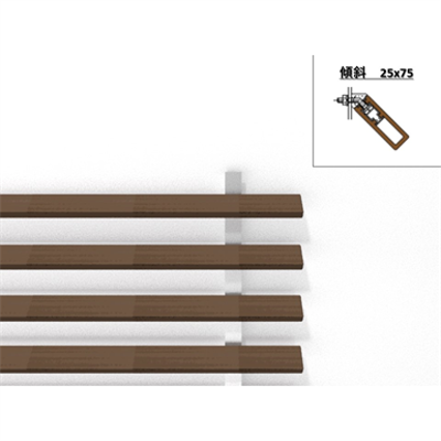 Image for Inclined Horizontal 25mm x 75mm - WOODSPEC Feather Louver