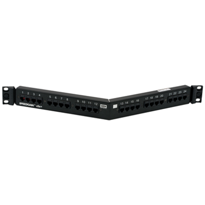 Image for Angled Patch Panel, SPEEDGAIN® Category 5e, Black